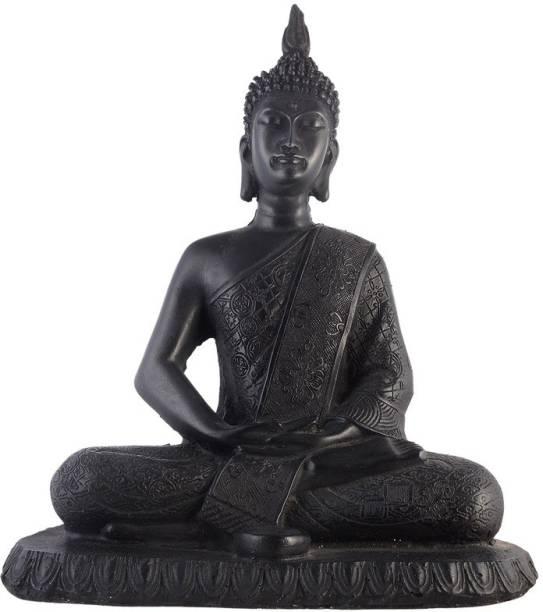 AapnoCrafts Premium Black Collection Lord Gautam Buddha Decorative Showpiece  -  27.94 cm
