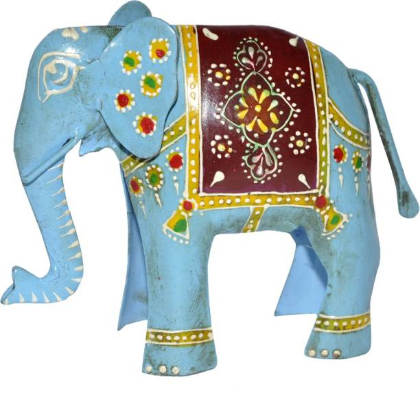 Lal Haveli Home Decorative Metal Handicraft Elephant Showpiece Decorative Showpiece  -  12.7 cm