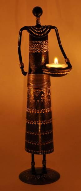 Lal Haveli Home Decor Iron Candle Tealight Holder Table Top Decorative Showpiece  -  30.48 cm