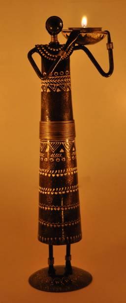 Lal Haveli Home Decoration Candle Holder Tealight Stand Handicraft Decorative Showpiece  -  30.48 cm