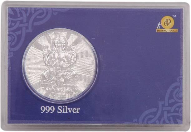 a1a0947297a Silverwala 999 Pure Silver Ganesha Coin Box (6.5 9.5) Decorative Showpiece  - 0.4