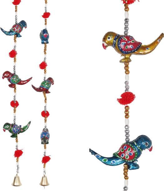 Jaipuri Haat Decorative Parrot door hanging Decorative Showpiece  -  96 cm