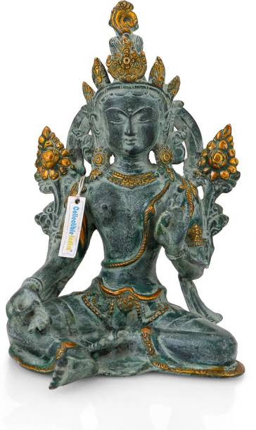Wedding gifts buy anniversary gifts online at indias best online collectible india antique brass tara buddha idol tibetan buddhism goddess statue home decor decorative showpiece junglespirit Gallery