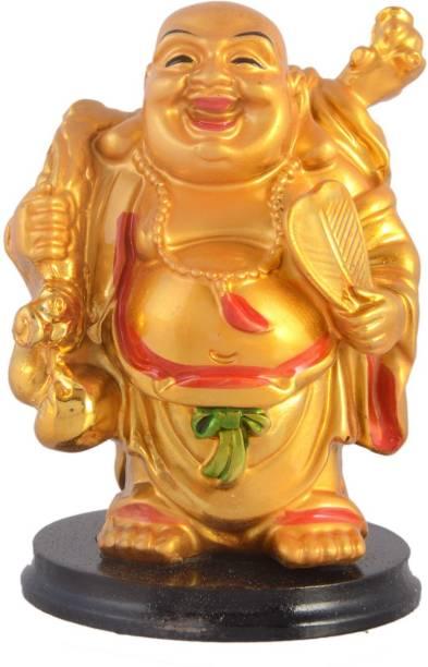 AapnoCrafts Premium Fengshui Laughing Buddha Decorative Showpiece  -  10.16 cm