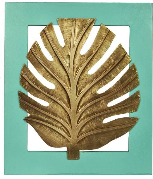 Lal Haveli Decorative Golden Leaf Wooden Frame Wall Mount Decorative Showpiece  -  33 cm