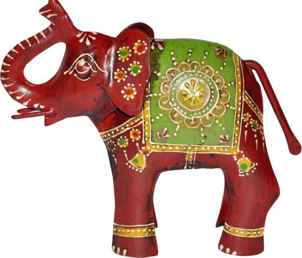 Lal Haveli Decorative Handicraft Elephant Figurine Statue Iron Decorative Showpiece  -  12.7 cm
