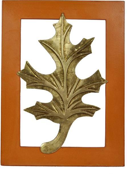 Lal Haveli Wall Decor Hanging Frame Wooden Showpiece Leaf Frame Painting Decorative Showpiece  -  38 cm