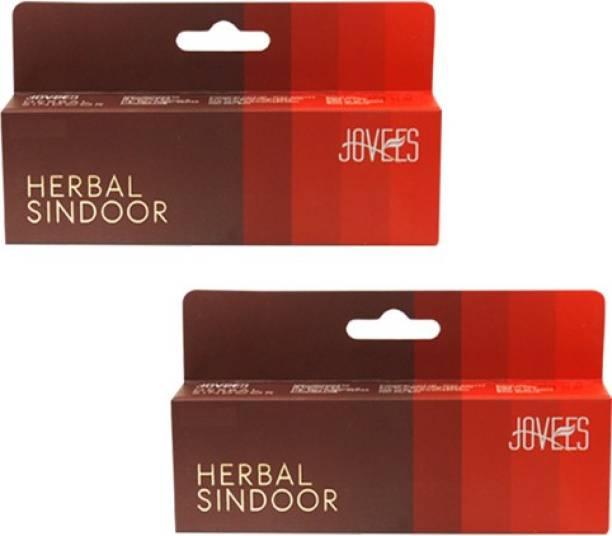 JOVEES Herbal Sindoor Pack of 2 Sindoor