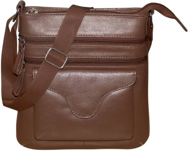 c636f9ccb Kan Genuine Leather Small Travel Bag/Messenger Bag For Men and Women Small Travel  Bag