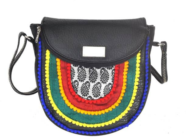 e92f3fc22 Hawai Women Casual Black PU Sling Bag