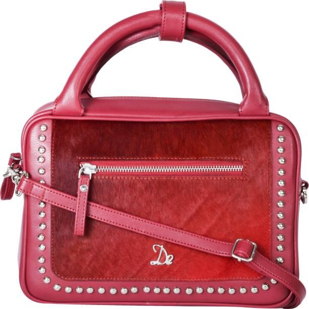 dezerae Women Casual Pink Leatherette Sling Bag