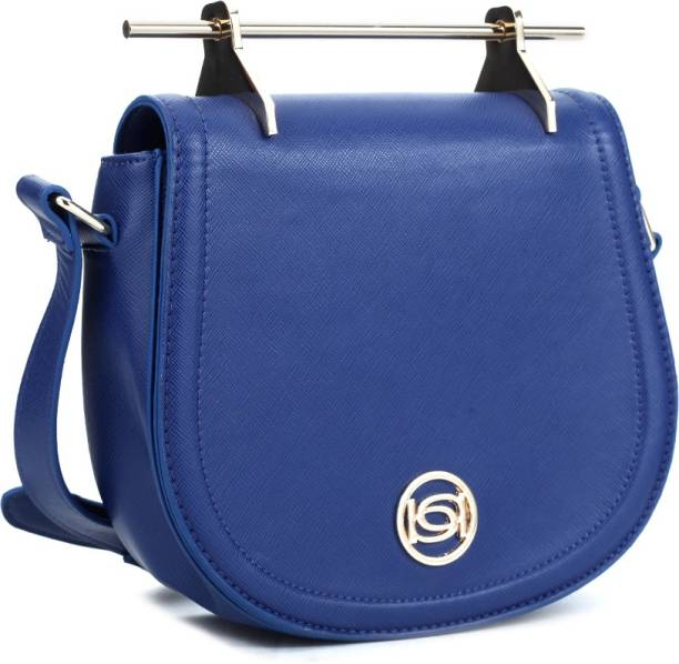 Bebe Women Casual Blue Genuine Leather Sling Bag