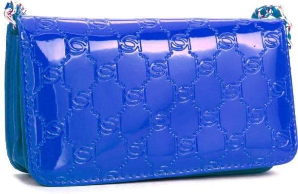 Bebe Casual Blue Clutch