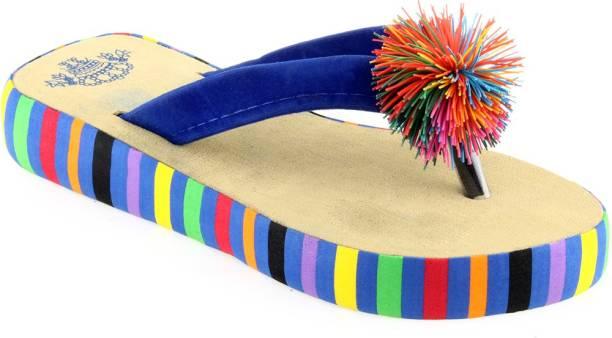 b6630598431f Blue Slippers Flip Flops - Buy Blue Slippers Flip Flops Online at ...