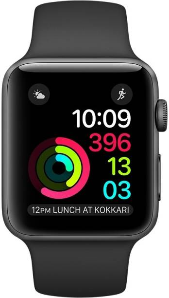 APPLE Watch Series 2 - 38 mm Space Gray Aluminum Case with Black Sport Band