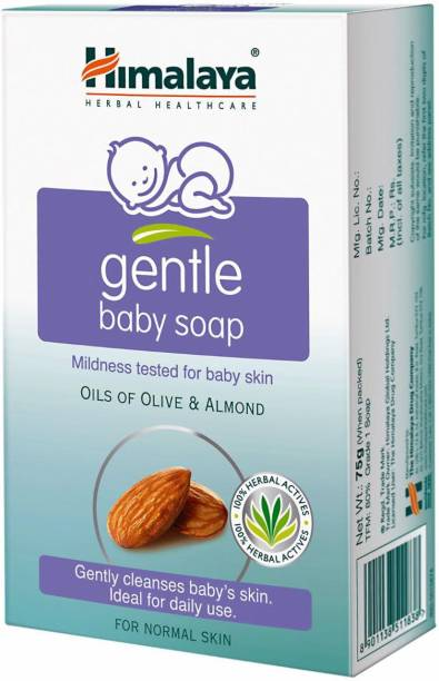 Himalaya Herbals Gentle Baby Soap 125 Gm - Pack of 10