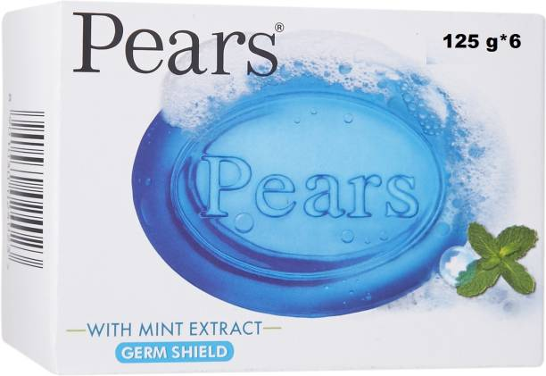 Pears Germs Shield With Mint Extract Soap ( Pack of 6 )