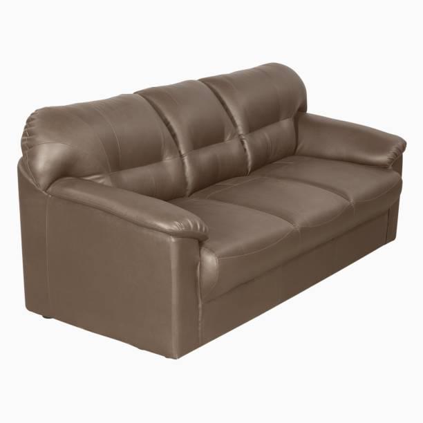 12bb76aeb Godrej Interio RIO PLUS 3SEAT S1N LTH BURGAND Leatherette 3 Seater Sofa