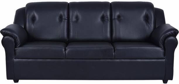 FURNY York Leatherette 3 Seater  Sofa
