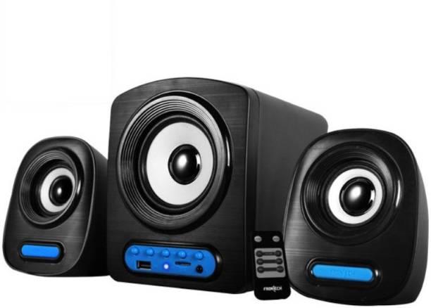 Frontech JIL 3938 6 W Portable Laptop/Desktop Speaker Black, 2.1 Channel