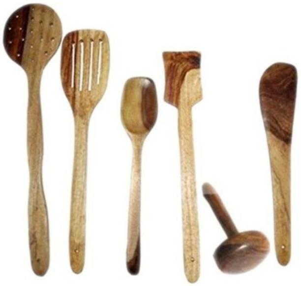 Onlineshoppee Handmade Cooking Spoon Set Wood Cooking Spoon Set