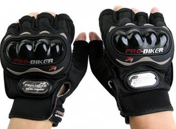 Probiker Pro Biker Half Cut Gloves Black L Size Driving Gloves