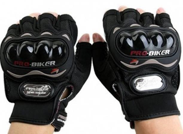 Probiker Pro Biker Half Cut Gloves Black L Size Driving Gloves