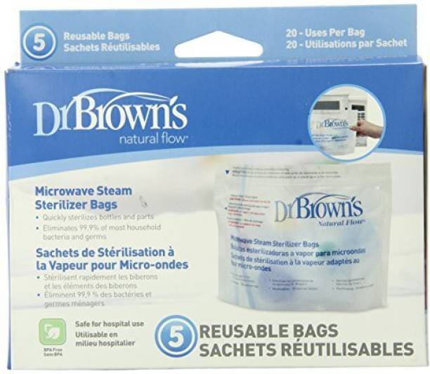 Dr. Brown's Microwave Steam Sterilizer Bags - 1 Slots
