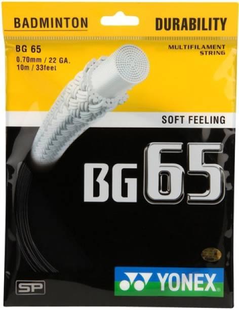 Yonex BG 65 1.25 Badminton String   10 m Black