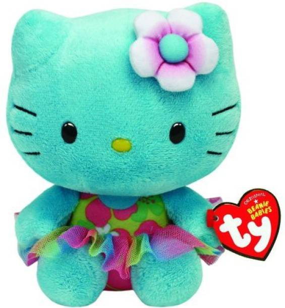 d6a958d7872 TY Beanie Babies Hello KitTurquoise Plush - 8 inch