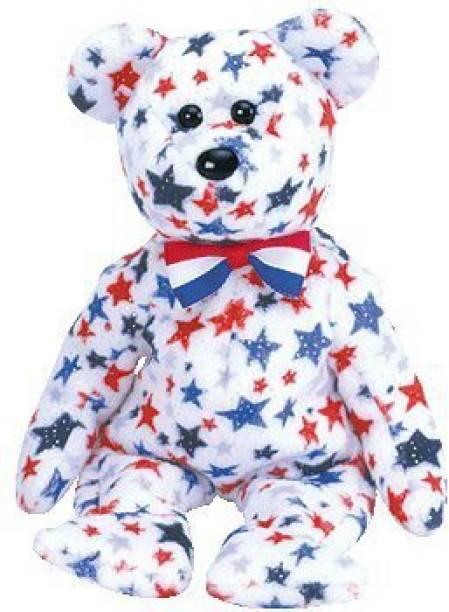 1ee0cafa8b3 ty Beanie Babies Redwhite   Blue The Bear
