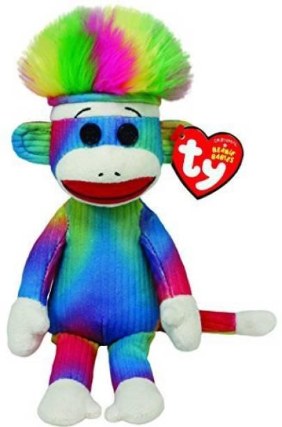2ec6aef9e13 TY Beanie Babies Rainbow Sock Monkey - 35 cm