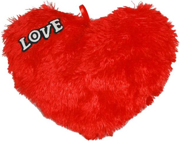 Sargam Love Stuffed Red Heart Toy And Cushion  - 30 cm