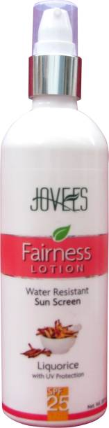 JOVEES Fairness Lotion Water Resistant Sunscreen - SPF 25