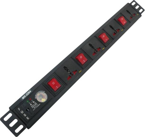 MX 4 Sockets Surge& Spike buster with Universal and 1.5 Meters power cable 4  Socket Extension Boards