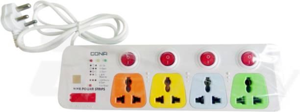 CONA Viva 4+4 2meter Power Cord 4  Socket Extension Boards