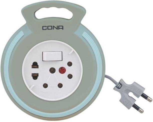 CONA Flex box 2Pin with 4Meter Extension cord 3  Socket Extension Boards