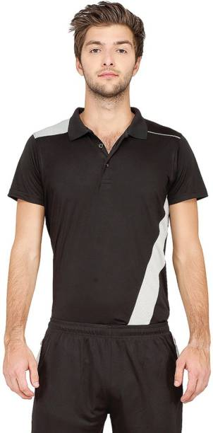 a5f8e1843a Campus Sutra Solid Men Polo Neck Black T-Shirt