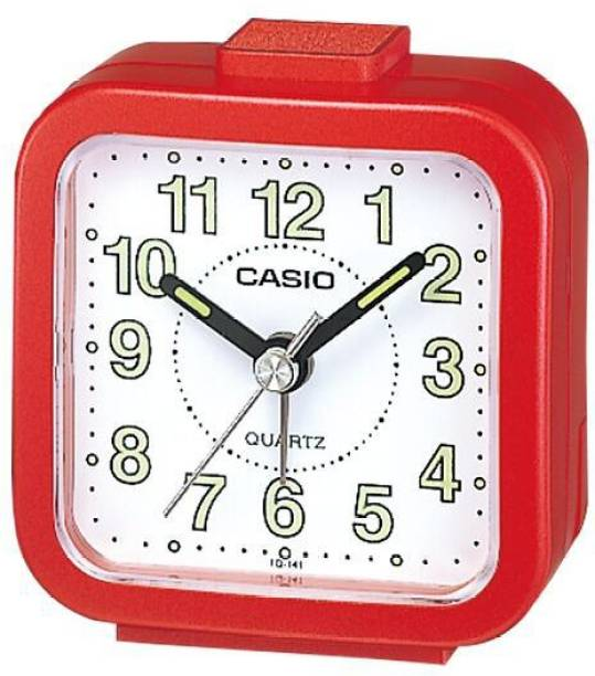 CASIO Analog Red Clock