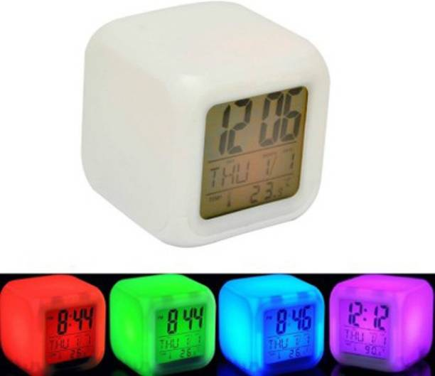 Divinext Digital White Clock