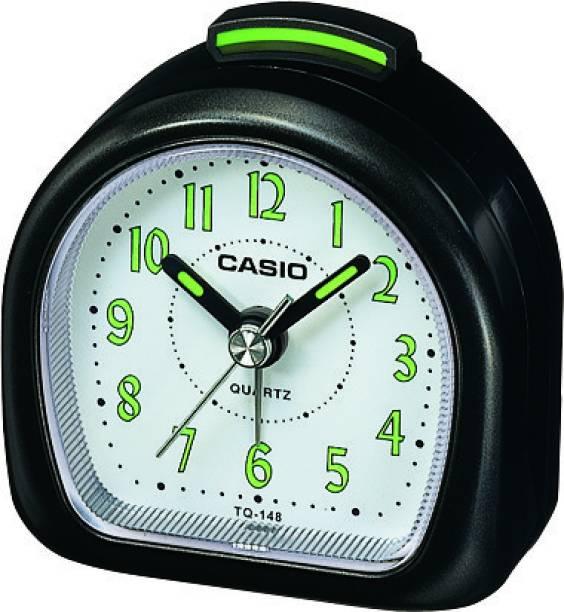 CASIO Analog White, Black Clock