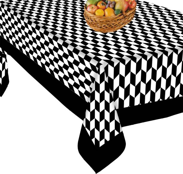 AIRWILL Checkered 4 Seater Table Cover