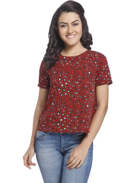 6b8967ed Red Shirts Tops Tunics - Buy Red Shirts Tops Tunics Online at Best ...
