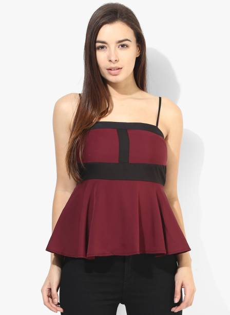 hot-selling fashion genuine bright in luster Sleeveless Tops - Buy Sleeveless Tops Online at Best Prices ...