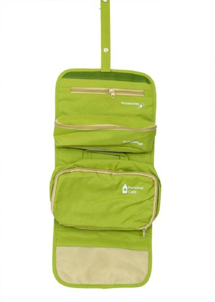 Kuber Industries Green Long Folding Hanging Cosmetic Makeup Travel  Organizer kit with detachable pockets (KI3294 42d02fb653cdc