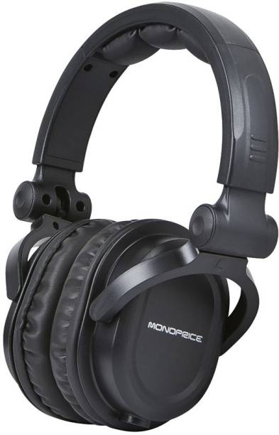 C&E  TV-out Cable Premium Hi-Fi DJ Style Over-the-Ear Pro Headphone with Mic
