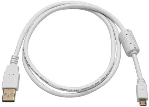 C&E  TV-out Cable 3ft USB 2.0 A Male to Micro 5pin Male 28/24AWG Cable w/ Ferrite Core (Gold Plated) - WHITE