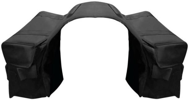 Auto Hub Double Side Black Fabric Motorbike Saddlebag