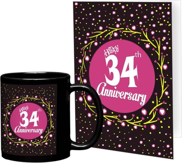 Tiedribbons 34th Wedding Anniversary Best Mug Gift Set