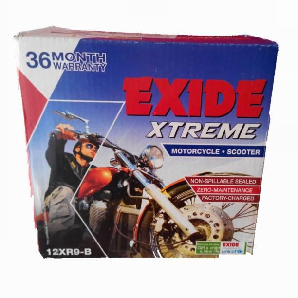 EXIDE 12XR9-B 9 Ah Battery for Bike